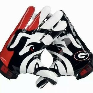 nike superbad football gloves georgia bulldogs